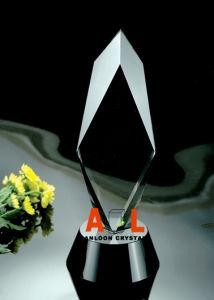 De optische K9 Toekenning van de Trofee van het Kristal met de Zwarte Basis van het Kristal