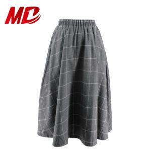9016b12341 Comercio al por mayor de la escuela gris uniforme falda larga para niñas