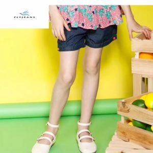 Shorts sottili blu del denim delle ragazze popolari di modo dai jeans della mosca