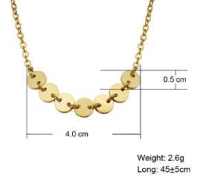 De in het groot Juwelen van de Halsband van de Tegenhanger van het Roestvrij staal van Europa Shinny Gouden Ronde