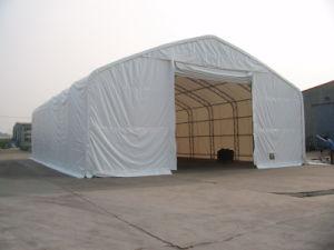 Grande barraca do armazenamento com Anti-Fogo, tela protegida UV do PVC