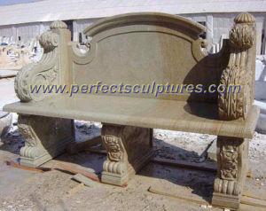 屋外の石造りのベンチ、庭の石造りの椅子(QTC003)