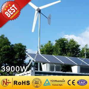 Se acercó a viento de alta calidad CE Híbrido solar generador 3900W)
