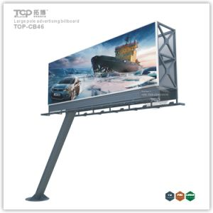 Outdoor grand pôle Boîte à lumière Trivision moderne, panneaux publicitaires