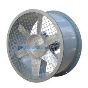 Alojamento do Ventilador Axial galvanizado com impulsor de alumínio