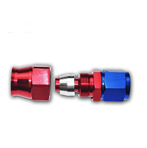 Freno de teflón giratorio recta los extremos de la manguera de adaptador de coche