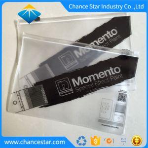 21898501f55e6 Impressão personalizada de embalagens de plástico de PVC preto Saco com  fecho de correr