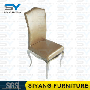 Mobiliário de jantar cadeira modernos produtos de aço Cadeira de jantar de Ouro