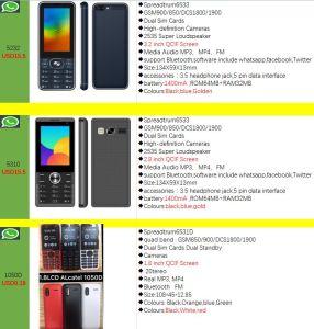 OEM fábrica celular GSM Móvil Whatsapp Facebook Twitter Móvil