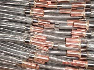 Tubo flessibile ondulato del metallo flessibile dell'intrecciatura con la flangia/i montaggi