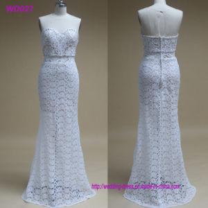 Los encajes Close-Fitting simple vestido de novia 2018