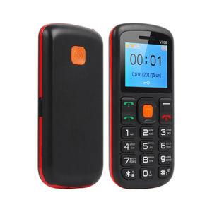С двумя SIM-карты 2g GSM бар телефон с большой клавиатурой и кнопкой Sos для престарелых пенсионеров и детей