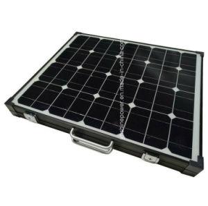 Estrutura preta do Painel Solar Dobrável 100W constituídos