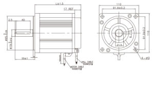 motor sin cepillo de la C.C. de 110m m con 3000rpm 2.06 nanómetro (ME110AS100-9)