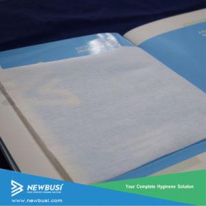 Perforado a través del aire no tejidos para la toalla sanitaria y pañales