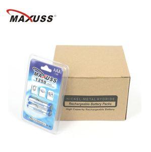 1250mahx2 Ni-MH AAA Batterien der nachladbaren Batterie-1.2V AAA