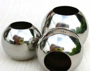 Custom ampla esfera de flutuação oco de aço inoxidável com o furo 100mm