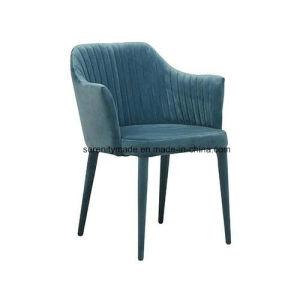 Sala de estar escandinavo moderno sillón tapizado en terciopelo