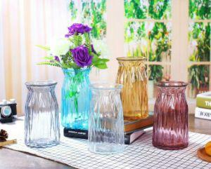 فن لون زجاج إناء زهر