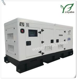 Weißes Farben-Kabinendach-Dieselgenerator 75kVA