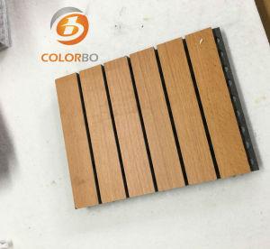 Lärmverminderung-hölzernes dekoratives Grooved akustisches Panel