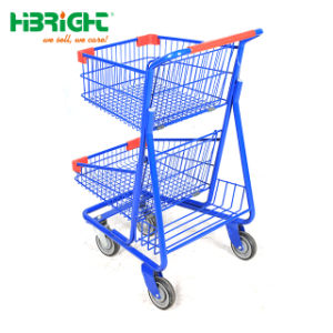 판매를 위한 소매점 180L 아시아 작풍 금속 Supermarkt 쇼핑 트롤리