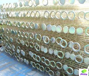 De industriële Kooi van de Zak van de Filter van het Staal van de Collector van het Stof Montage Gegalvaniseerde