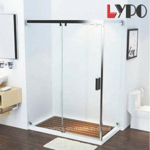 De Europese Standaard Glijdende Badkamers van het Roestvrij staal van het Glas van de Bijlage van de Douche Sanitaire Waren Aangemaakte
