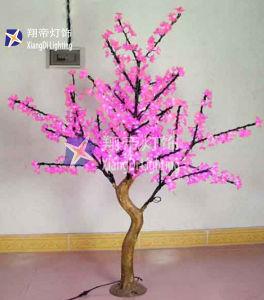 Водонепроницаемый чехол для установки вне помещений 0.8m Рождество деревни веревки строка светодиодные индикаторы дерево с музыкальным