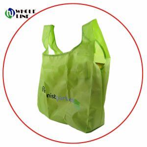 Custom reutilizables reciclables Nylon plegable Bolsa de compras