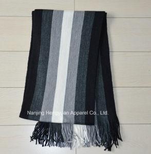 熱い販売快適な100%のアクリルの冬のスカーフによって編まれるスカーフ(HY15110506)