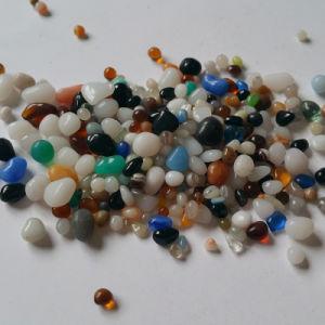 Jardinería Piedras sueltas de color claro para la decoración de vidrio plano
