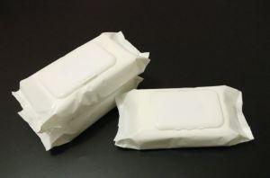Veegt de Neutrale Verpakkende Niet-geweven Antiseptische Natte Baby Spunlace van de fabriek 45GSM af