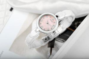 Bracelet en céramique Kezzi Pink Lady montre-bracelet de conception de numérotation