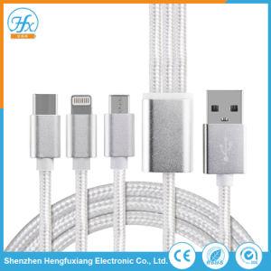 携帯電話5V/2A電光かタイプCまたはマイクロUSBデータワイヤー充電器ケーブル