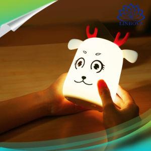 Ночной свет рядом с лампа DC5V 0,15 Вт 4 СВЕТОДИОДНЫЙ ИНДИКАТОР силиконовый изящный дизайн с оленями встроенный 500 Ма/ч индикатор высокой емкости ночное освещение в Интернете для грудных детей