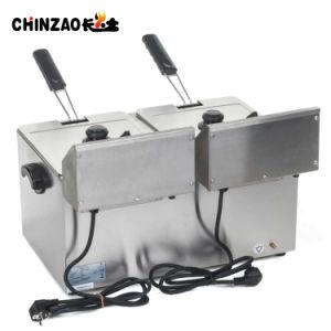두 배 8L 탁상용 상업적인 스테인리스 전기 프라이팬 기계