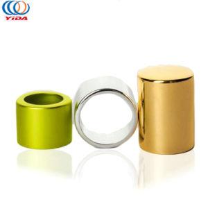 Logotipo personalizado de tapón de rosca de metal cubiertas de aluminio frasco metalizado Oro