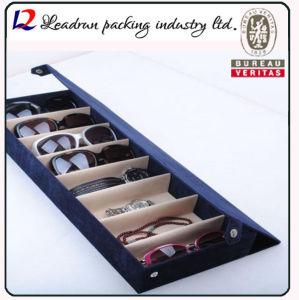 Suporte de monitor de óculos de couro óculos de couro MDF Vitrine para joalharia Assista óculos de sol Óculos China (X032)