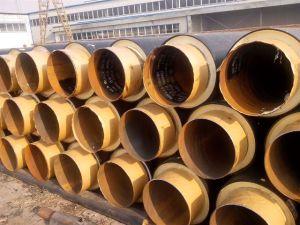 ウレタンフォームが付いている管の絶縁材および外HDPEの保護
