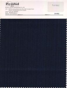 Tecido de lã de polietileno sólido, Stripe Design, Plano de Fundo da Marinha de tecido para