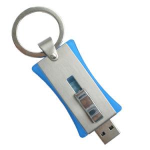 ギフトのためのUSBのフラッシュ駆動機構16GBのキーホルダーを押し、引っ張りなさい