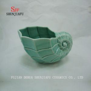 花のための多機能のコンシュの形表の陶磁器のつぼ