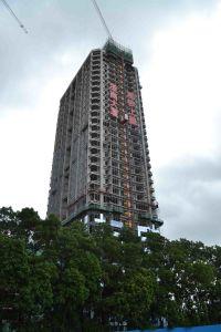 O comprimento da lança de guindaste de torre de 63 metros de construção