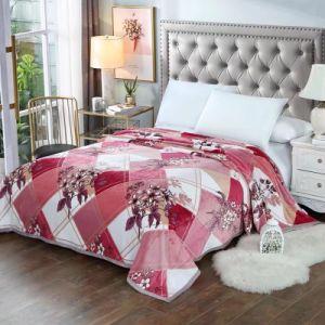 Textil hogar impreso de flores espeso manto de franela cómodo