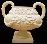 Напольный Flowerpot Polyresin украшения сада скульптуры постамента песчаника
