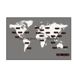 Data Digital LED Exibir fuso horário Mundial relógio de parede