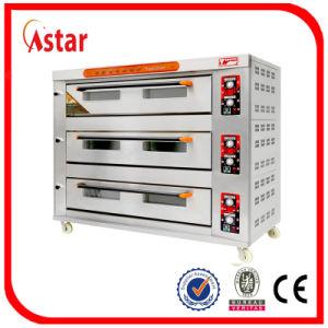 Roestvrij staal rql-120 3 Dek 12 van Astar de Oven van het Baksel van het Dek van Dienbladen van de Apparatuur van de Bakkerij, Goedgekeurd Ce