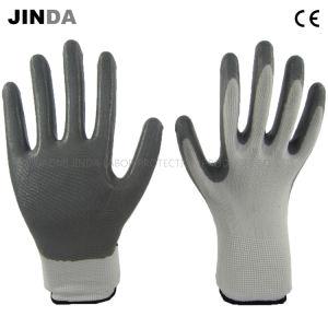 Revestimiento de nitrilo protección laboral de trabajo Industrial guantes de seguridad (NS001)