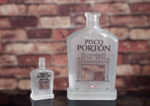 Nach Maß bereifte Wodka-Flasche 750ml